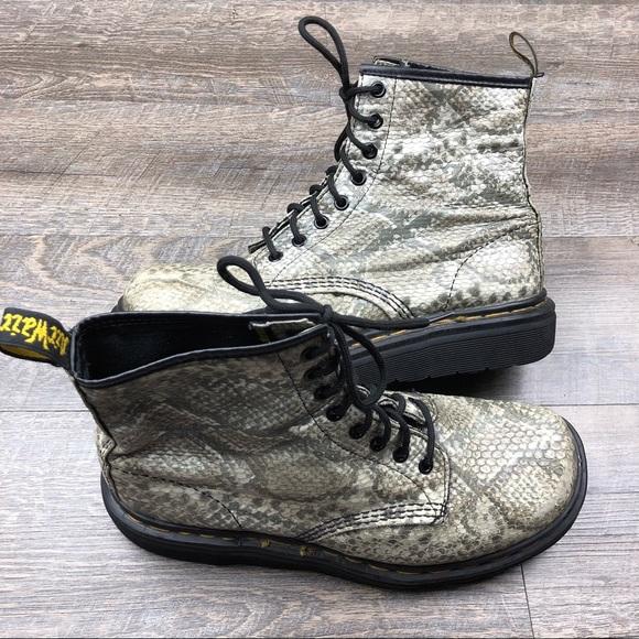 3eab10e7dfe Dr. Martens Shoes - Dr Martens Pascal Snake Print Fashion Boots Size 8